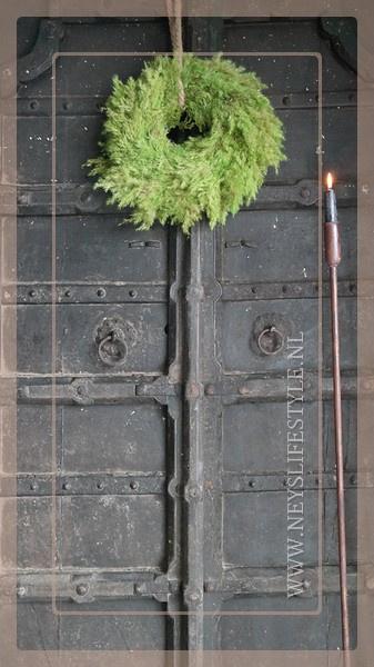 Krans Rietpluim 35 cm | groen