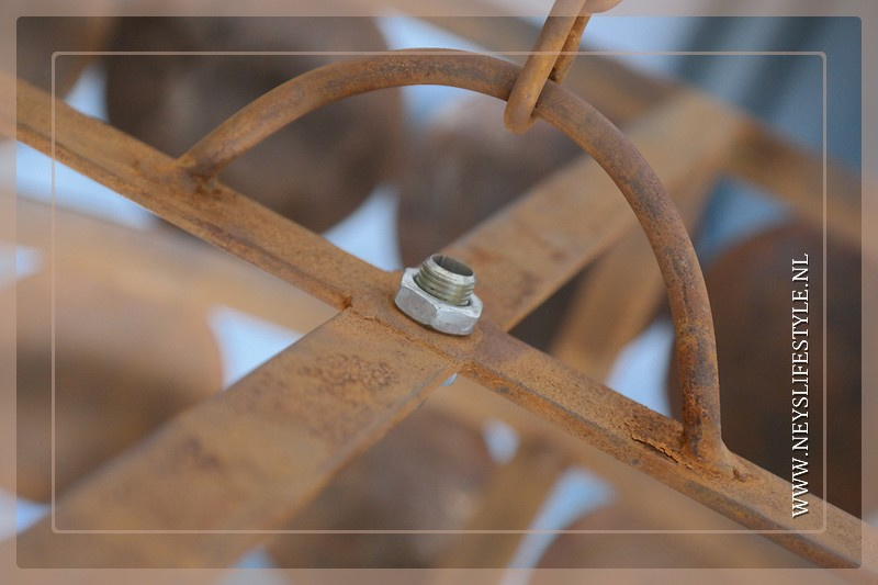 Schijfjeslamp excl fitting | roest S