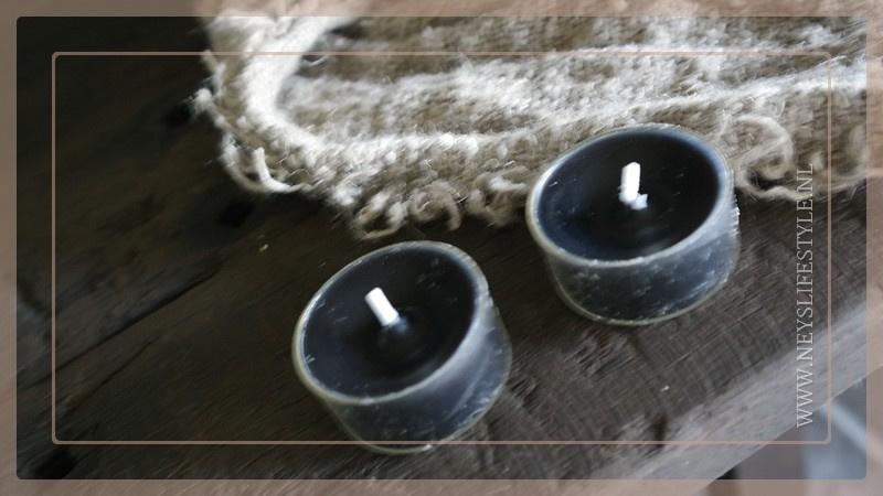 Waxinelichtje | zwart 5 st