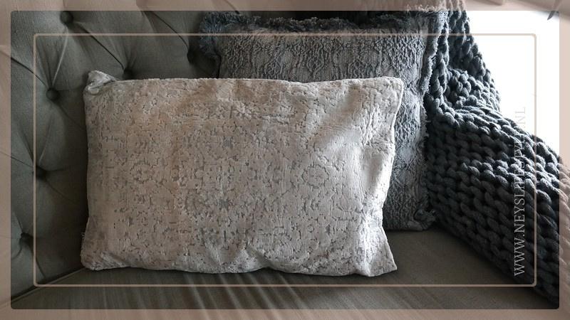 Kussen fluweel  40 x 60 cm | grey