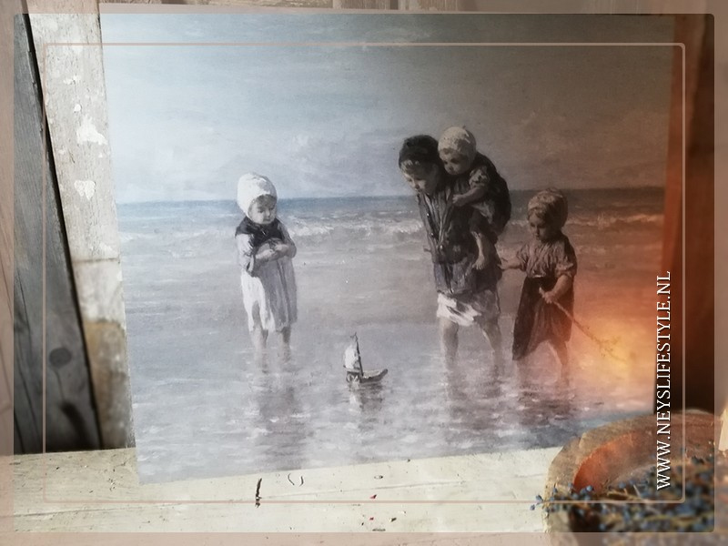 Schilderspaneel | Kinderen aan de zee