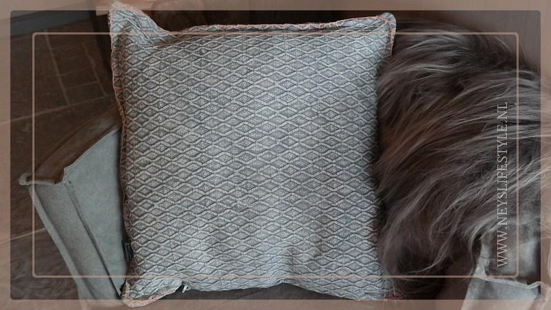 Kussen Cross 45 x 45 cm | grey