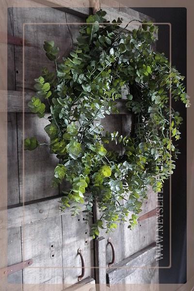 Eucalyptus krans kunst | 55 cm