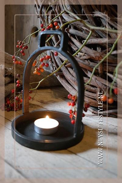 Waxinelichthouder stijgbeugel | black
