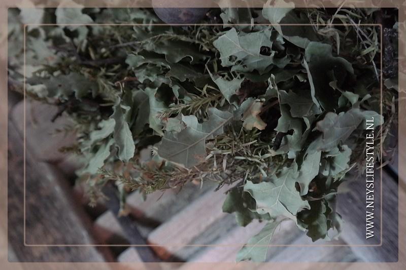Krans oaked leaf | 45 cm