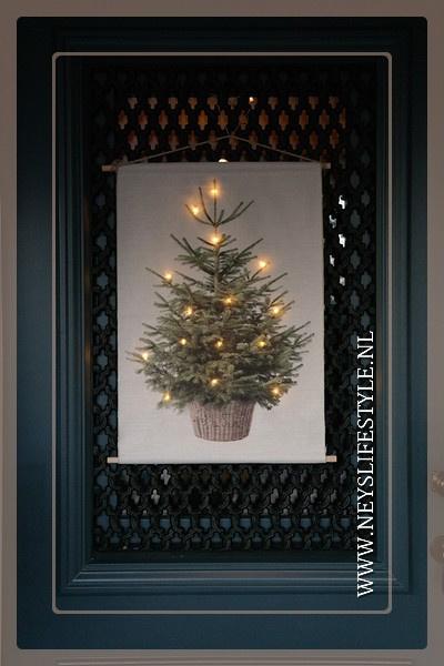 Wanddoek XMAS tree LED | S