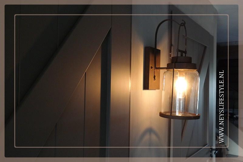 Wandlamp LED Leo | roest