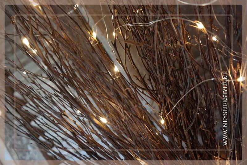 Bundel berken takken met LED licht | 70 cm
