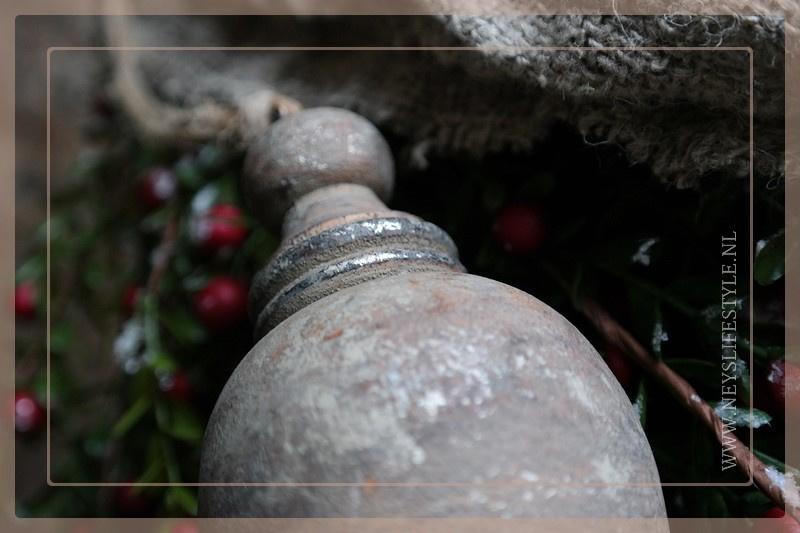 Klos hout Bas | naturel goud