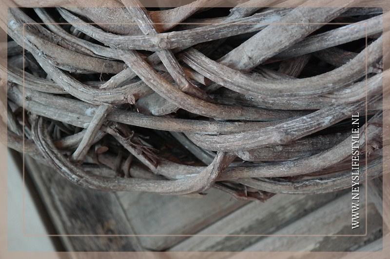 Krans Crazy Vine | Greywash | 48cm