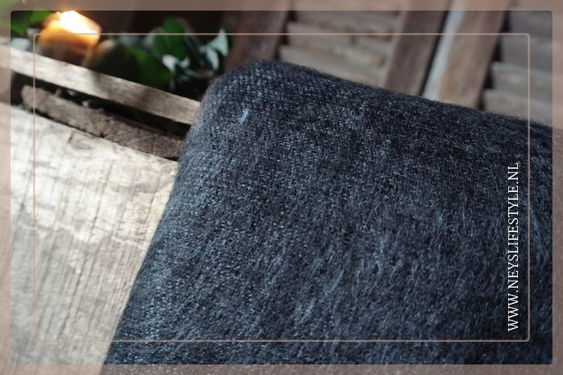 Plaid Manda 170 x 130 cm | dark grey