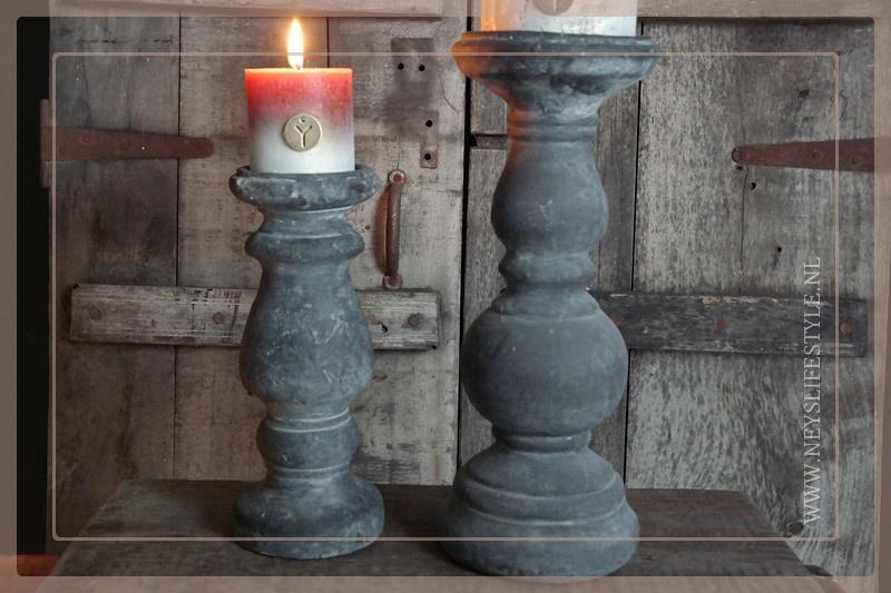 Kaars fading | cognac 7 x 7 cm