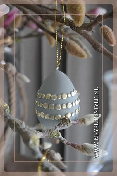 Set hang eieren | grijs