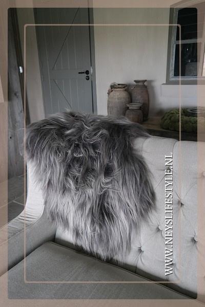 Ijslands schapenvacht | steenrgrijs