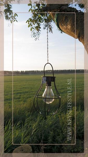 Solar buitenlamp hanger | zwart