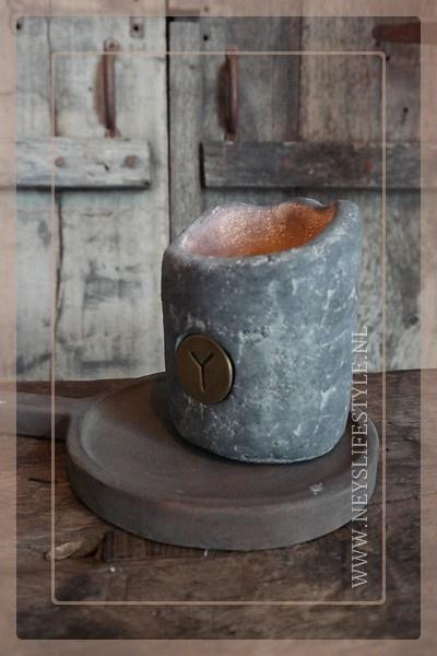 Houten teak amuseplank | grey