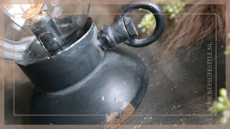 Kandelaar olielamp | zwart