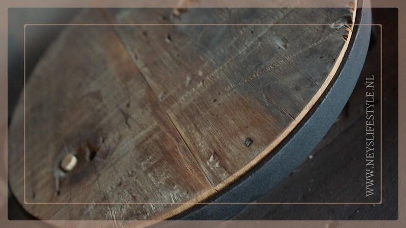 Plateau met poten hout | black
