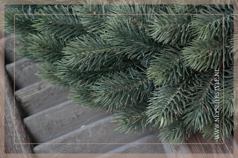 Kunst dennenkrans licht groen 40 cm
