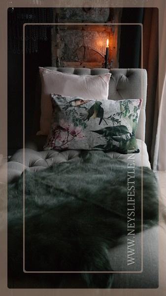 Geiten vacht 90 cm | Groen