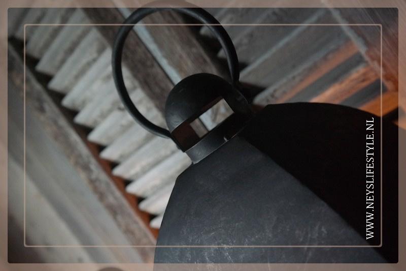 Lantaarn Industrial black   S