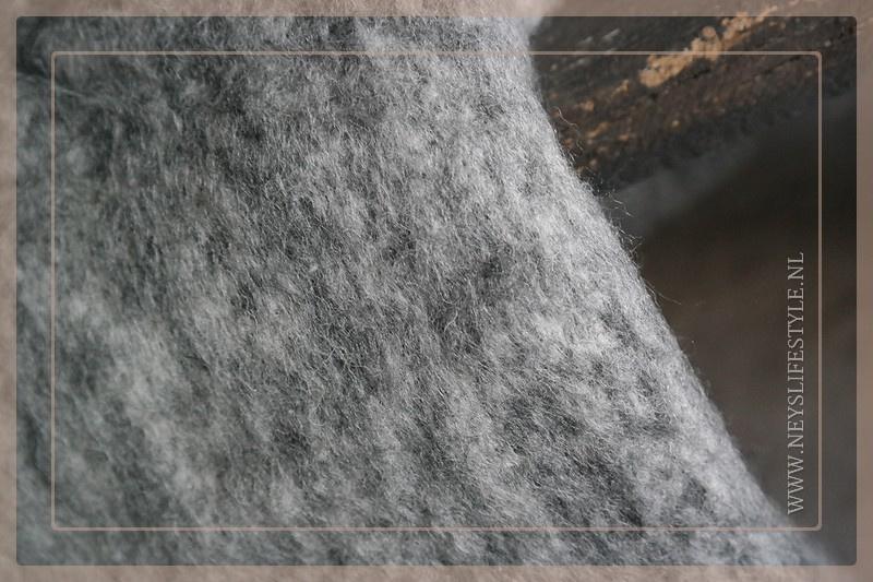 Plaid Billy 190 x 130 cm | grijs/wit