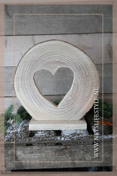 Ornament wood slice | Heart