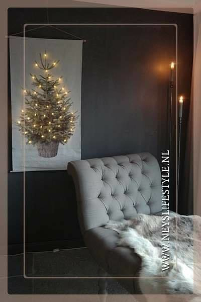 Wanddoek XMAS tree LED | M