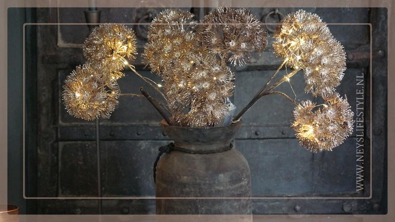 Heracleum tak LED brons | 1 takkig