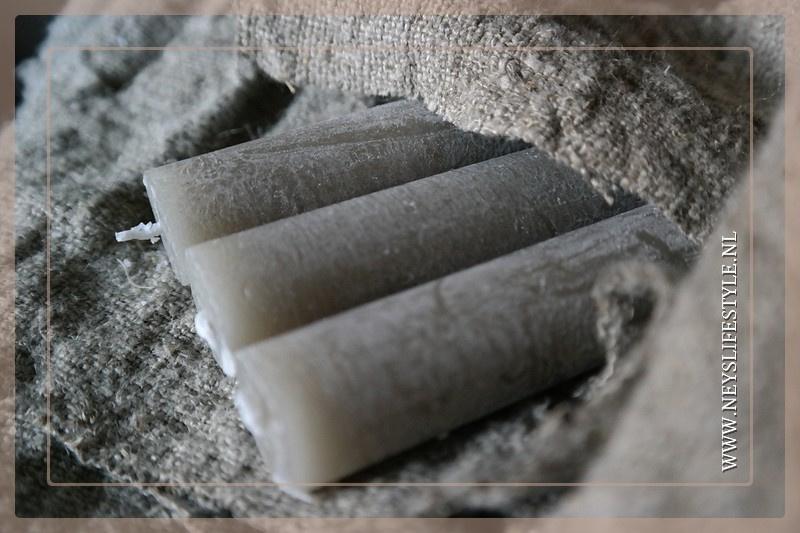Dinerkaarsen grijs | medium