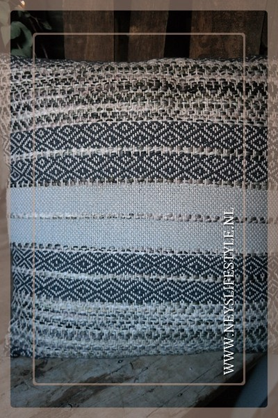 Kussen stripe 45 x 45 cm | green