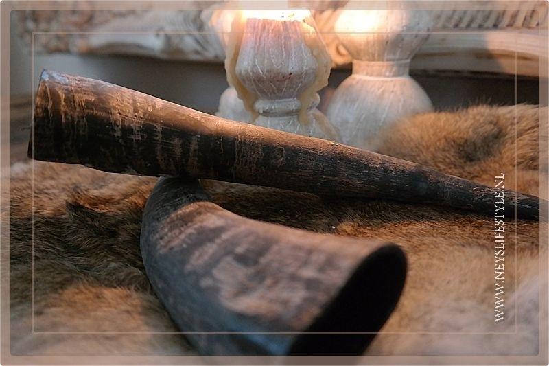 Buffalo horn matt 30 cm