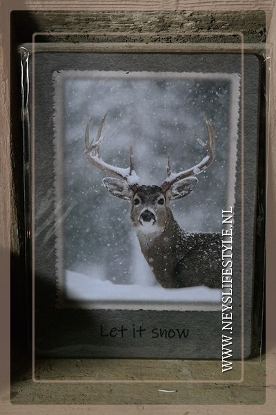 Deco bordje | Let it snow