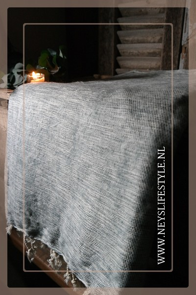 Plaid Manda 170 x 130 cm | sage