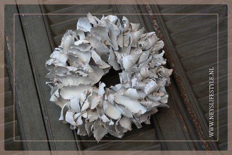 Krans Palm Petal | White | 25cm