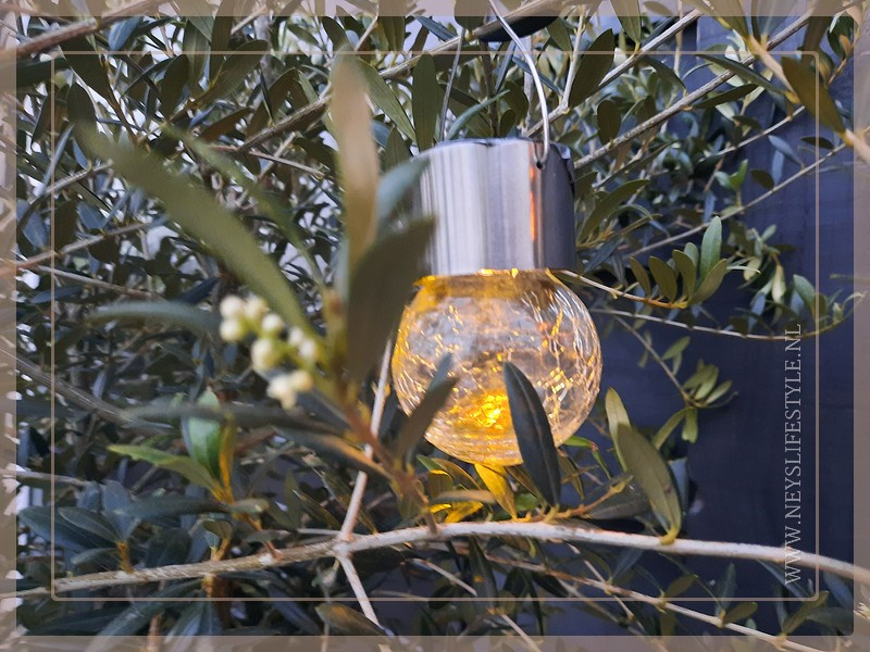 Solar buitenlampje hanger | glas