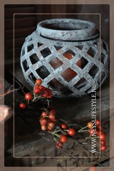 Windlicht Amber | greywash