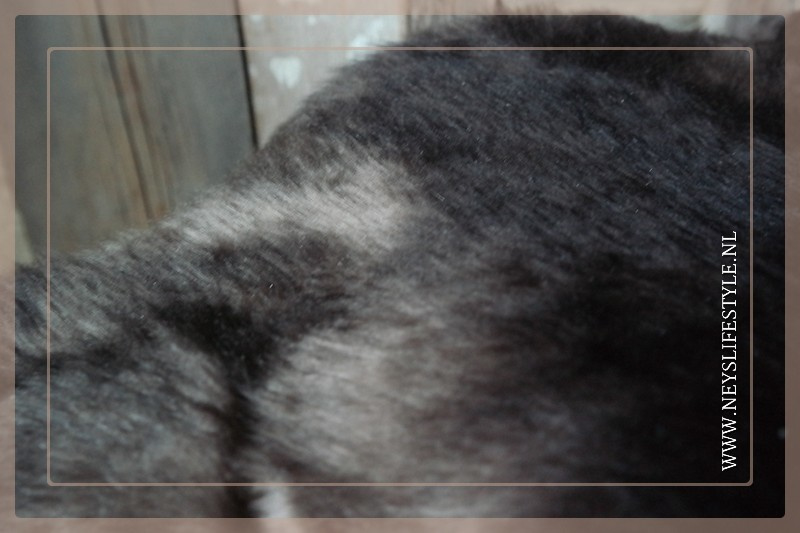 Toscaans lamsvacht 75-90 cm  donkerbruin