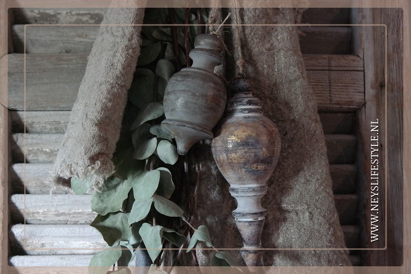 Klos hout Gold |  Mocca