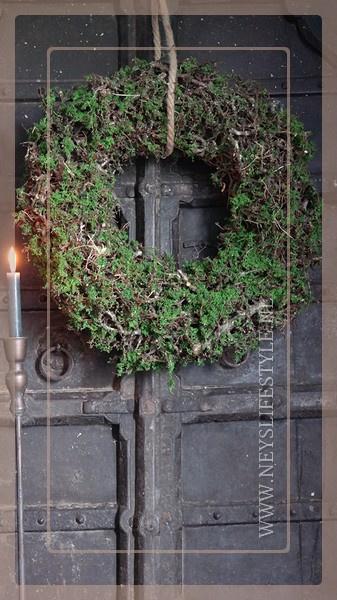 Krans Bonsai mos green | 60 cm