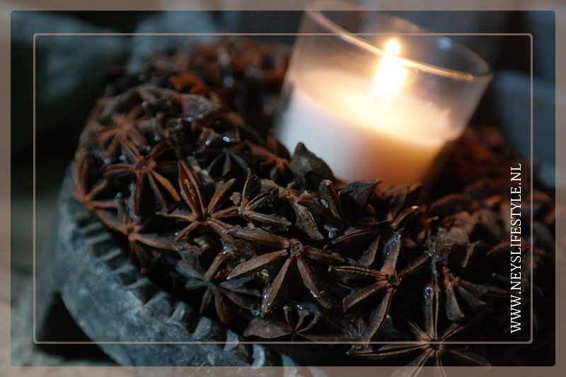 Krans candle | star anise