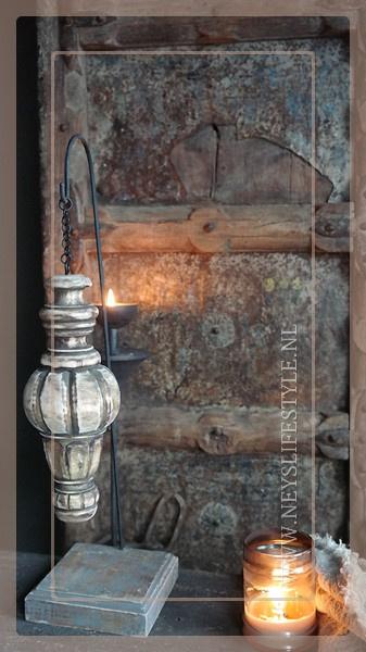 Pinakel hout hanger | naturel M