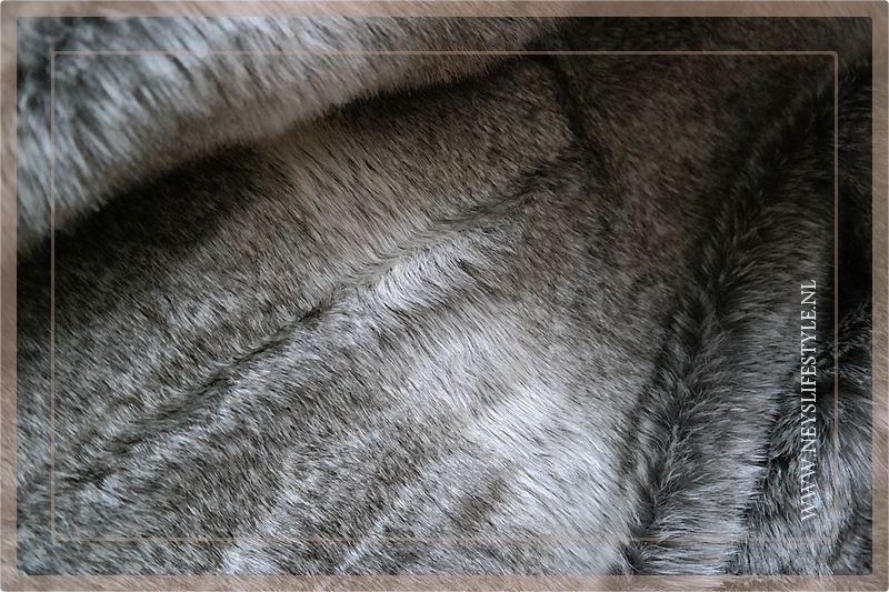 Luxe bont plaid 170 x 130 cm bruin