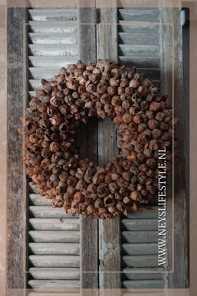 Krans coco fruit | naturel | 45 cm