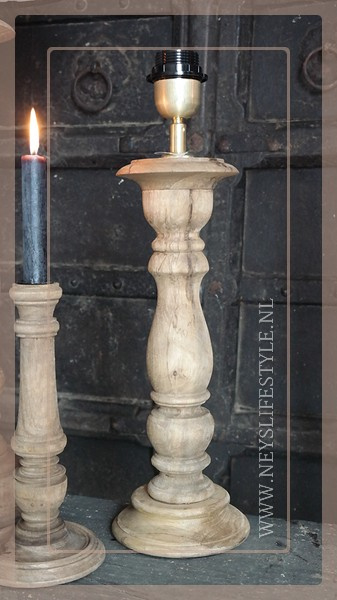 Tafellamp hout teak | S