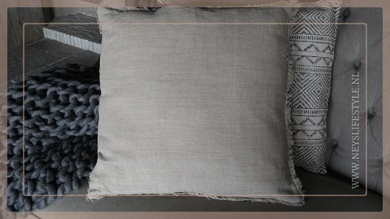 Kussen linnen 55 x 55 cm | naturel
