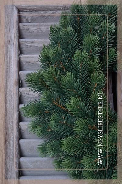 Kunst dennenkrans groen 40 cm