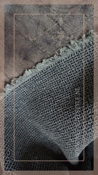 Wafel theedoek rafel | grijs
