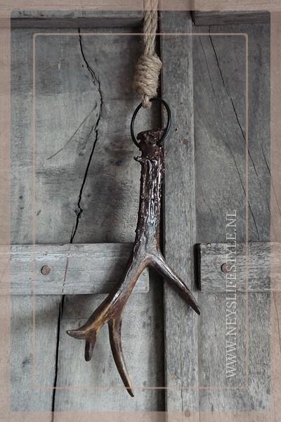 Gewei hanger bruin | S