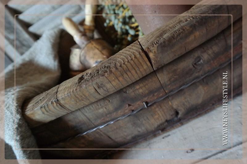 Olijfbak hout ovaal